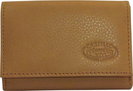 1df59fd0567 bol.com | Castillo leren kleine vouw portemonnee naturel BK-7528-02