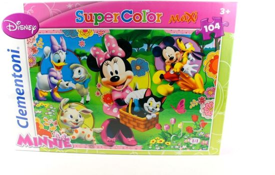 DISNEY MINNIE MOUSE SUPER COLOR MAXI PUZZEL 104 DELIG MINNIE