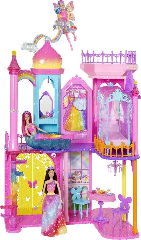 bol.com | Barbie Dreamtopia Regenboog Kasteel - Barbiehuis, Mattel ...