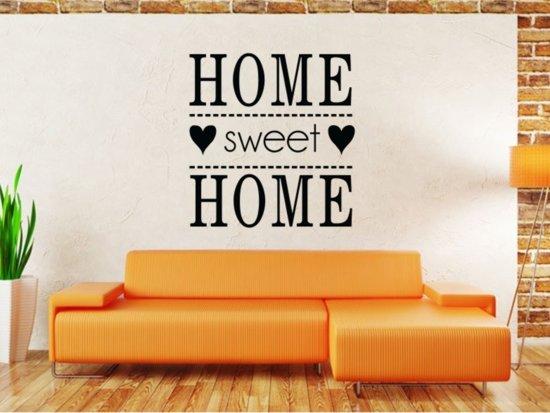 Muursticker Home Sweet Home.Bol Com Muursticker Home Sweet Home 58x60 Zwart