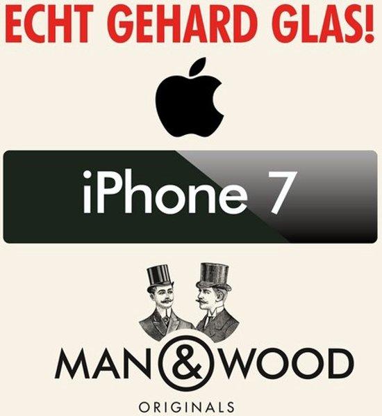 Man & Wood iPhone 7 Screenprotector / Schermbescherming ECHT GEHARD GLAS (Tempered Glass) - iPhone 7