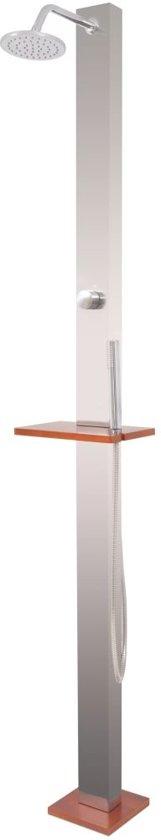 vidaXL Buitendouche 210 cm geborsteld roestvrij staal