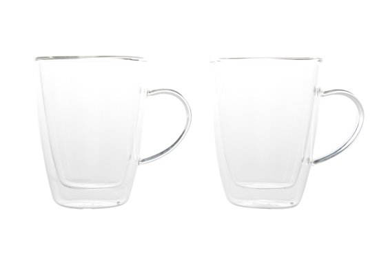 Cosy & Trendy Isolate Beker - Glas - 25cl - Ø 8.5 cm x 11 cm - Set-2 - Dubbelwandig Valentinaa