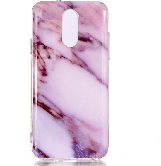 Mobigear Marble Soft TPU Paars LG Q7