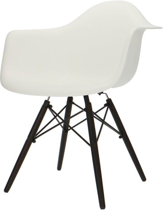 Eetkamerstoelen Designstoel Dsw Plastic Wit.Design Eetkamerstoel Daw Design Stoel Kuipstoel Donker Onderstel Wit
