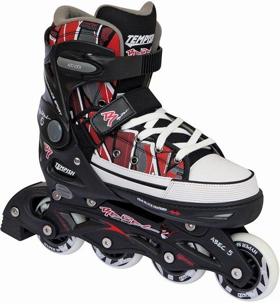 6d5f2680220 bol.com | Tempish Rebel Pp Inline Skates Junior Zwart/rood Maat 33/36