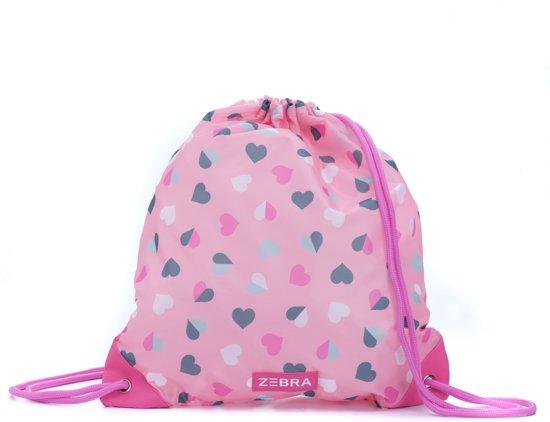 Zebra Trends Zwemtas - Hearts Pink