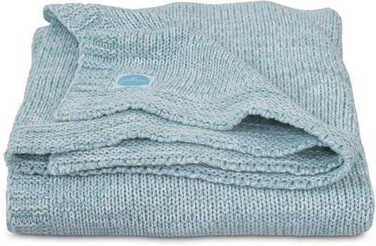 Deken 75x100cm Melange knit soft green