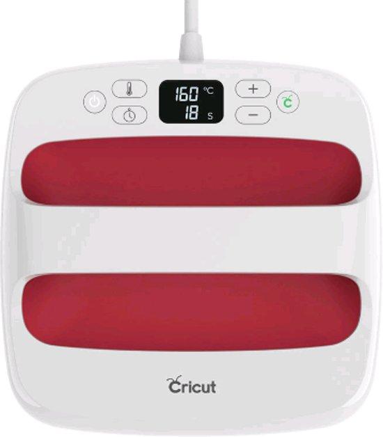 "Cricut Easy Press ™ 2, Raspberry - 9""x 9"" (22,5 cm x 22,5 cm) | HITTEPERS TRANSFER PERS HEAT PRESS & GRATIS flexfolie pastel pakket ter waarde van 11,99 euro"