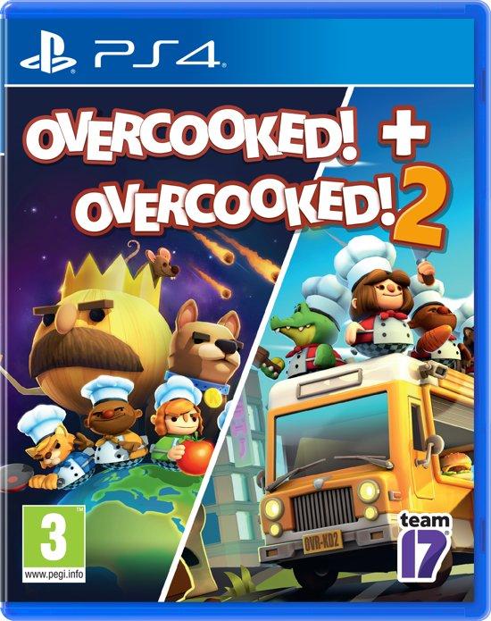 Cover van de game Overcooked Double Pack - Overcooked 1 & Overcooked 2 (PS4)