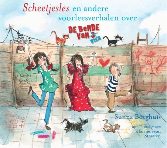 Boek cover De bende van vier - Scheetjesles van Sunna Borghuis (Hardcover)