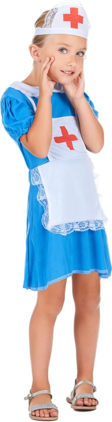 Blauw verpleegster kostuum voor meisjes - Verkleedkleding - Maat 86/92
