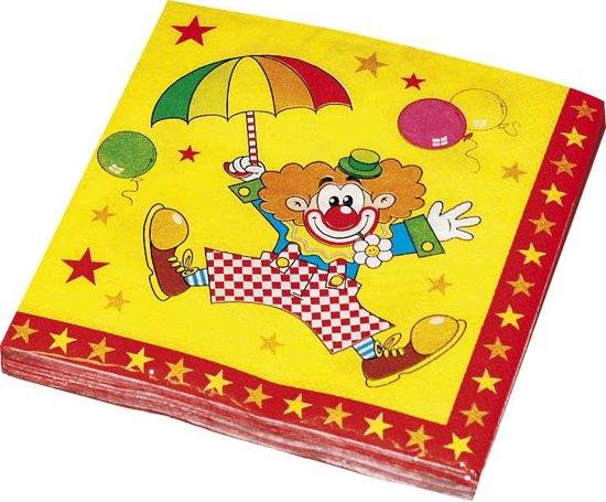 Haza Original Servetten Clown 33 X 33 Cm 20 Stuks Multicolor