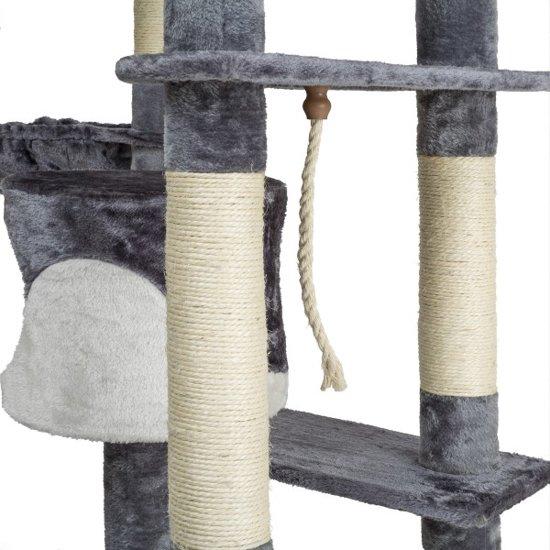 TecTake - Katten kitten krabpaal klimpaal Nelly 204cm grijs - 402109