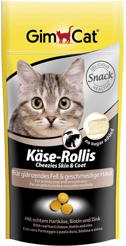 Gimpet Kaas Rollis Skin & Coat - Kat - Snack - 2 x 40 gr