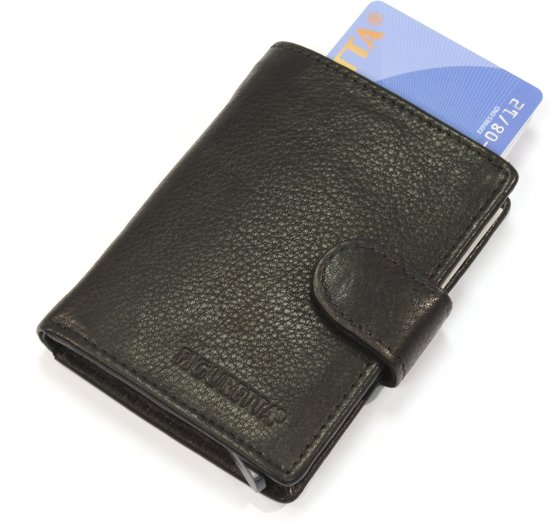 Figuretta Card Protector nappa leder zwart