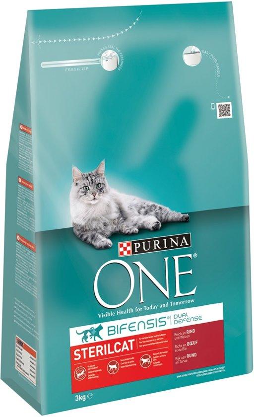 Purina ONE Sterilised Cat - Rund/Tarwe - Kattenvoer - 3 kg