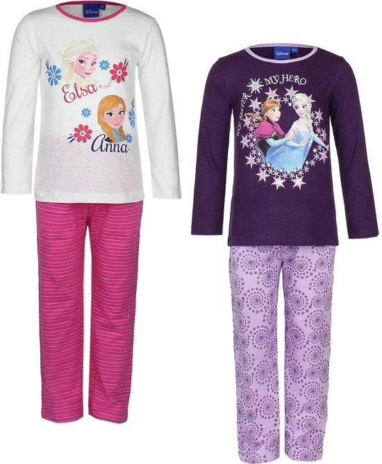 0d7b461fc91 bol.com | Kinderpyjama Disney van Frozen wit met roze gestreepte ...