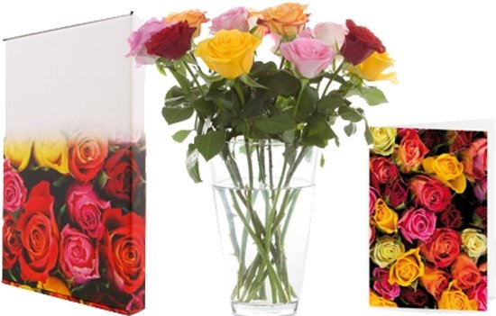 Brievenbusbloemen: Verse bos rozen per post bezorgd