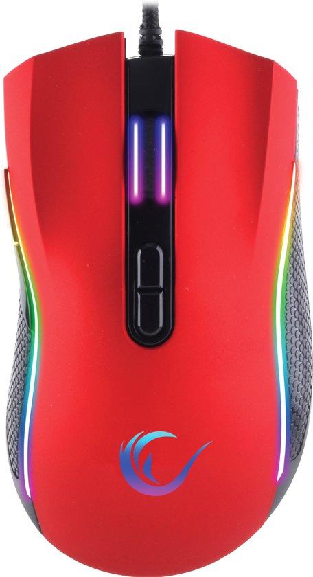 Rampage SMX-R44 Macro Red 6400dpi RGB Led – Gaming muis