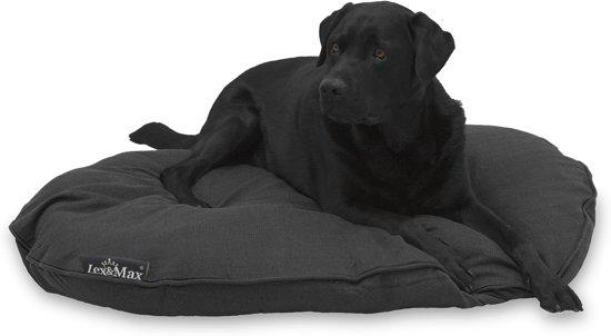 Lex & max maxima hondenkussen ovaal  115cm grijs