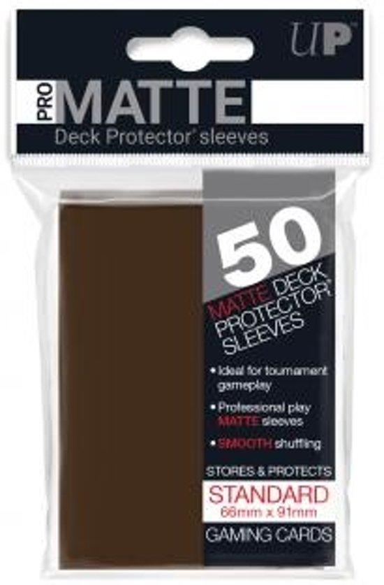 Afbeelding van het spel Sleeves Pro-Matte - Standaard Bruin (66x91 mm)