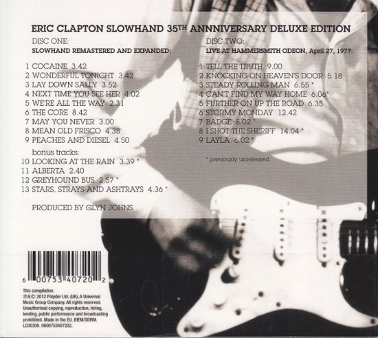 Slowhand (Deluxe Edition)