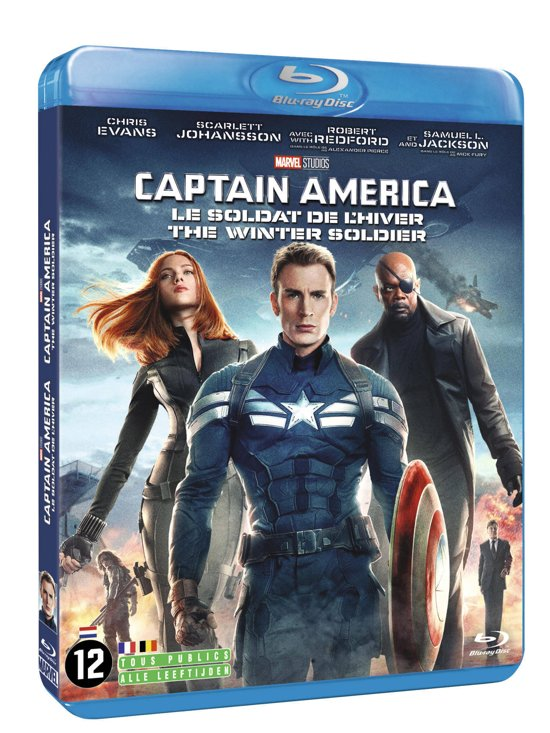 DVD cover van Captain America: The Winter Soldier (Blu-ray)