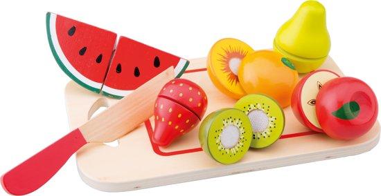 New Classic Toys - Speelgoed Snijset - Fruit op Snijplank - 8 stuks