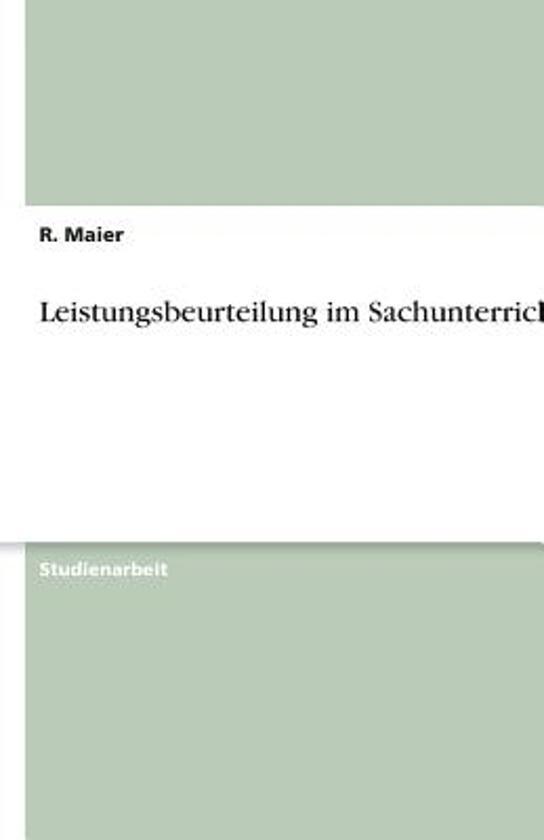 bol.com | Leistungsbeurteilung Im Sachunterricht, R Maier ...