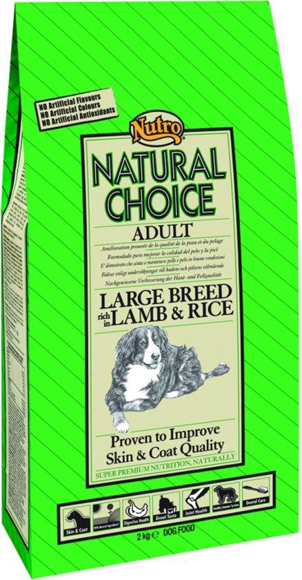 Nutro Adult Large - Lam & Rijst  - Hondenvoer - 12 kg