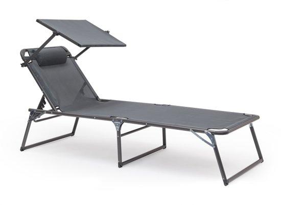 Voorkeur bol.com | relaxdays ligbed met zonnescherm, ligstoel met zonnedak BU03