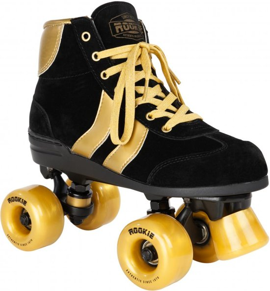 Rookie Authentic V2 zwart goud rolschaatsen (RKE-SKA-2159)