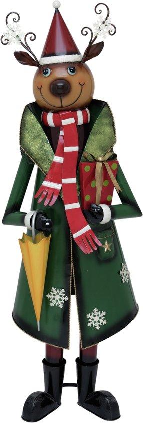 Europalms Reindeer met Coat, metaal, 155cm, groen