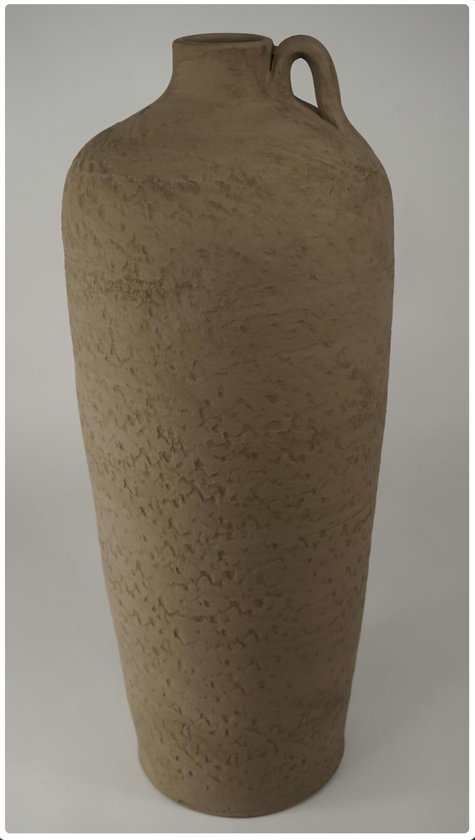 Vaas/kruik bruin-taupe 27x60 cm