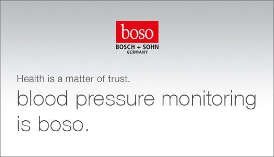 Bloeddrukmeter BOSO Medicus, Volautomatisch, LCD display, Eenknopsbediening, Doosje is licht verkleurd!