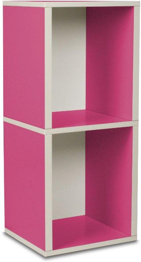 way Basics Cube plus2 - Boekenkast - roze