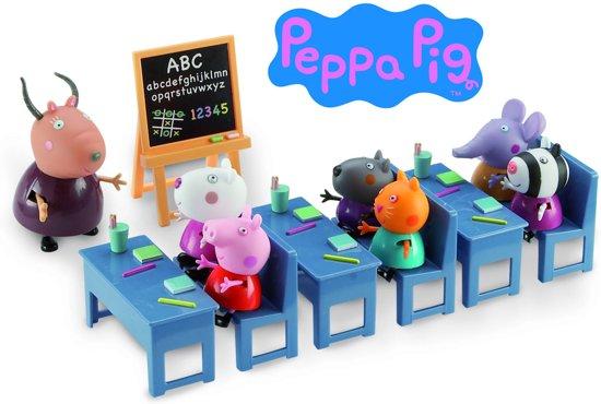 Peppa Pig Klaslokaal met 7 speelfiguren