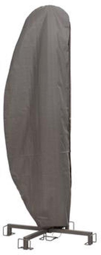 DistriCover Parasolhoes voor zweefparasol - zweefarmparasol  - 260x60/86  Premium Quality Grijs - diameter parasol 250/350 cm - met opzet stok.