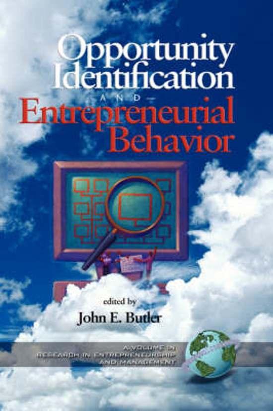 Opportunity Identificatiion Entreneurial Behavior