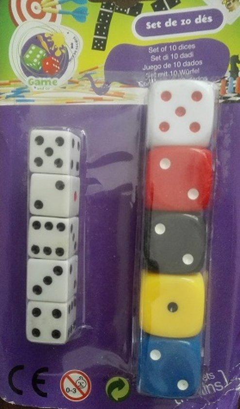 Afbeelding van het spel Set van 10 Dobbelstenen