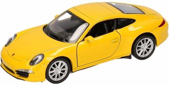 Speelgoed modelauto gele porsche 911 carrera s for Gele lampen auto
