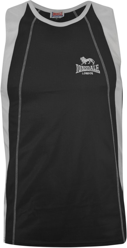 Sleeveless Black white Tee Performance S tdsQrhC