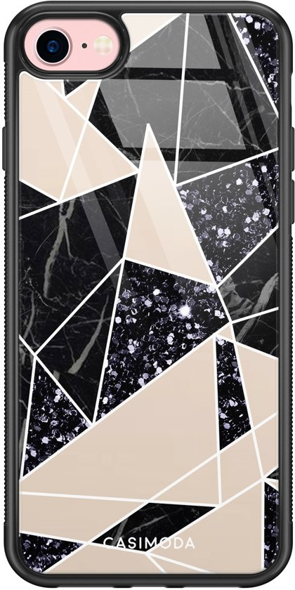 iPhone 8/7 glazen hardcase - Abstract painted