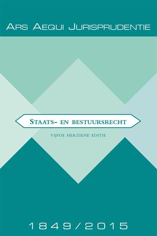 Boek cover Ars Aequi Jurisprudentie - Jurisprudentie Staats- en bestuursrecht 1849-2015 van P.P.T. BovendEert (Paperback)