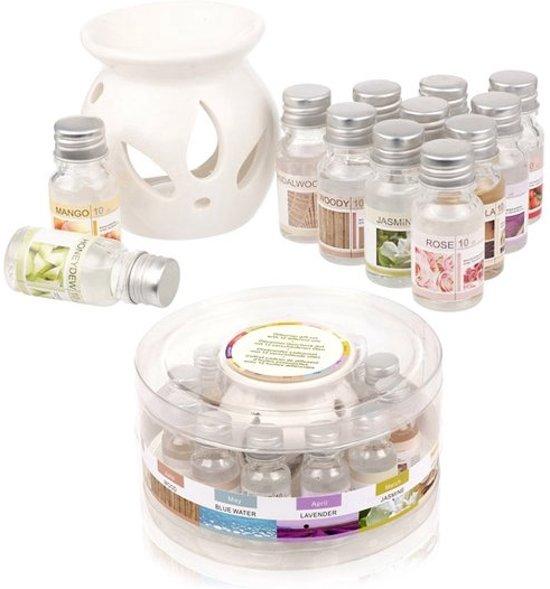 Oliebrander / Geurbrander & Geurolie Set - Aromabrander / Olie Geurverspreider Brander