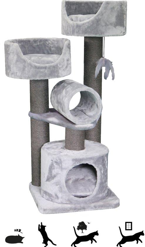 Petrebels Krabpaal Sweet Petite - Cabin 125 - fuzzy grey - 125cm - 24 kg