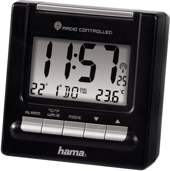 Hama RC200 - Wekker - Accu/Batterij - Zwart