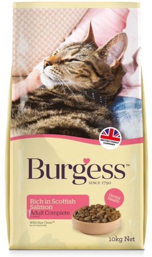 Burgess Cat Adult Rijk Aan Schotse Zalm - 10 KG