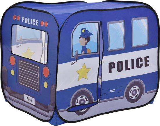 [casa.pro]® Politieauto speeltent - ballenbak voor kinderen